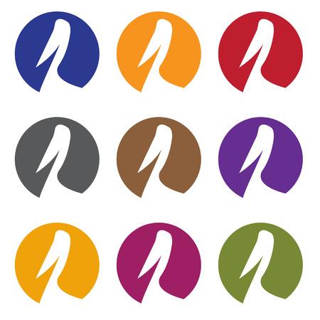 wharf: pelican web icons set vector design template