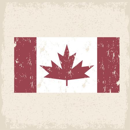 Drapeau du Canada feuille d'érable rouge vecteur grunge modèle de conception Vecteurs