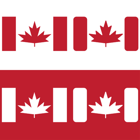 canadian: flag of canada red maple leaf vector design template