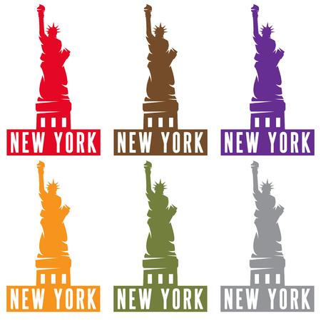 liberty statue: Liberty Statue in New York city vector design template Illustration