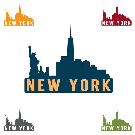 new york skyline: New York city skyline silhouette vector design template