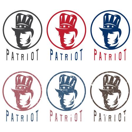 declaration of independence: Patriotic vintage vector labels set