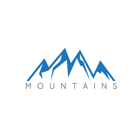 elevate: simple vector illustration of the abstract mountains