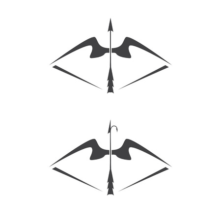 illustration of bow weapon with arrow