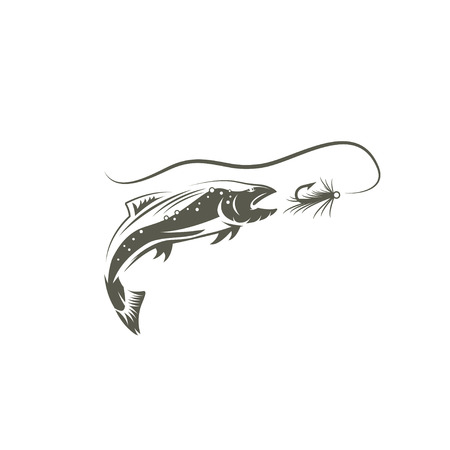 coho: salmon fish and lure design template