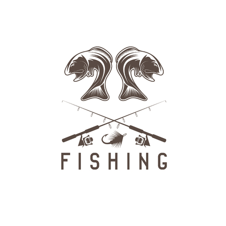 jig: vintage fishing vector design template with largemouth bass