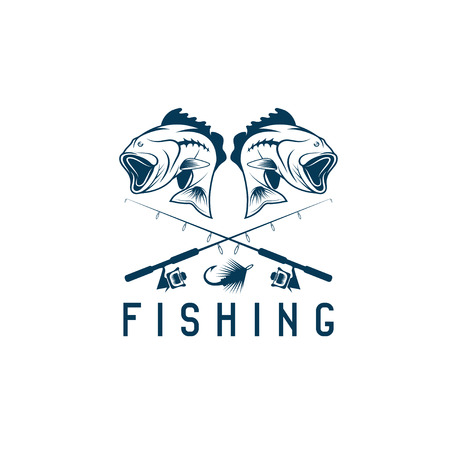 pike: vintage fishing vector design template with largemouth bass
