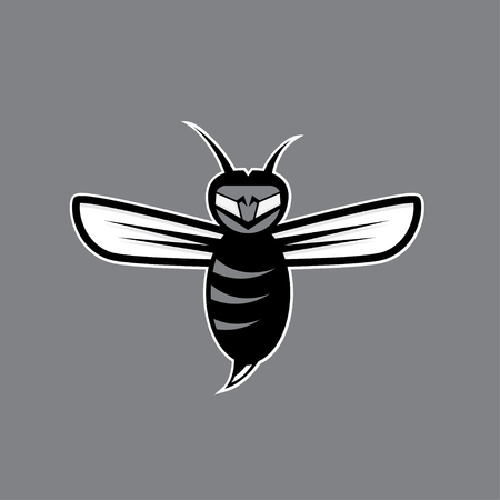 wasp: agressive bee or wasp mascot vector design template