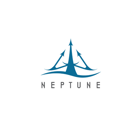 neptune: vector illustration of abstract icon neptune trident