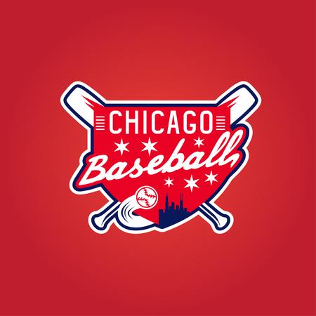 chicago baseball vintage sport coat of arms , vector crest