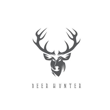 deer head vector design template,hunting illustration Illustration