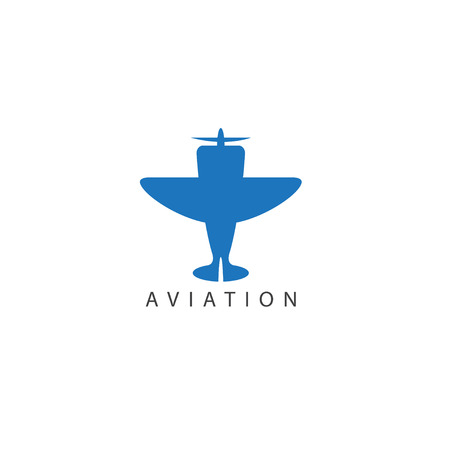 vector design template of small jet airplane