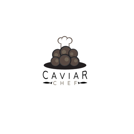 caviar vector design template with chef hat