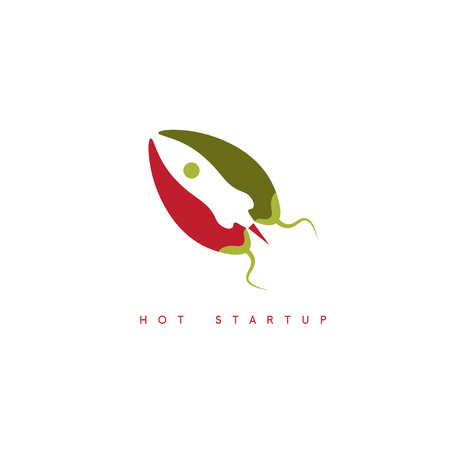 vector design template of hot rocket startup chili pepper Illustration