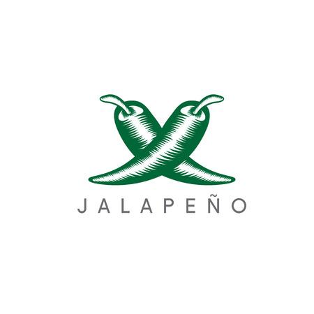 vector design template of hot jalapeno pepper Illustration