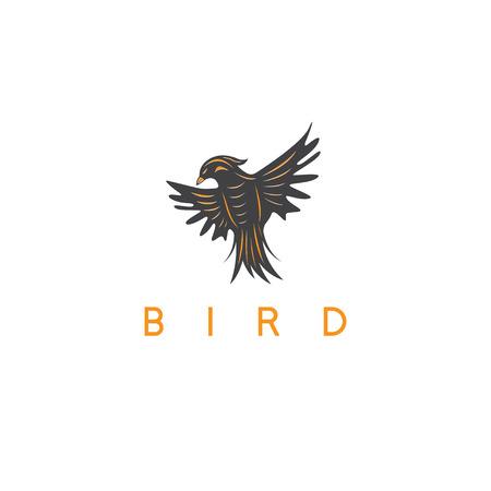 lovebird: vector design template of the abstract bird