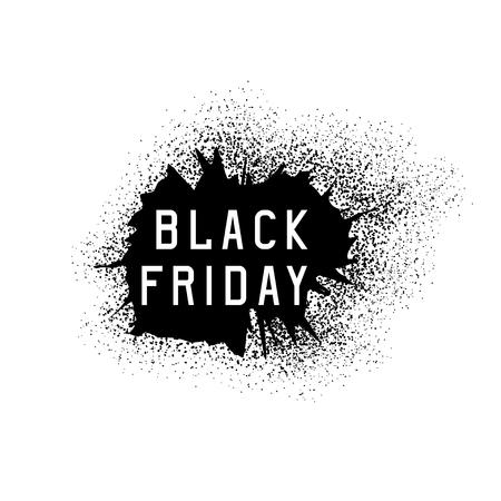 black friday sale holiday vector grunge illustration