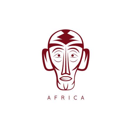 African ethnic culture mask vector design template Illustration