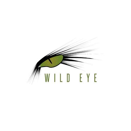 wild eye of animal vector design template Vektorové ilustrace