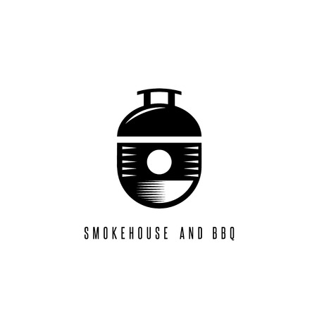bbq barrel: smokehouse and bbq vector concept with barrel