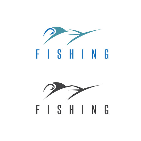 marline: fishing vector illustration set with outline marlin Illustration