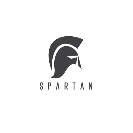 antiques: Old Vintage Antiques Spartan warrior vector design template