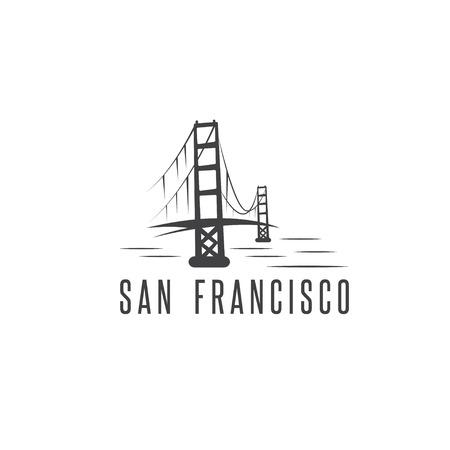 サンフランシスコ ゴールデン ゲート ブリッジ ベクター デザイン テンプレート イラスト 写真素材 - 67847222