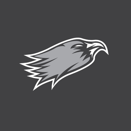soar: eagle head sport mascot vector design template