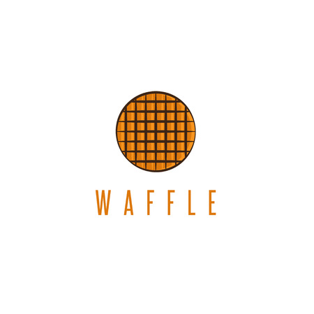 abstract rounded delicious waffle vector design template Stock Illustratie