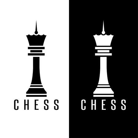 simple chess figure queen vector design template