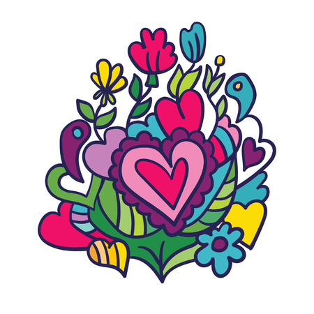 Creative holidays design for Valentines Day. Vector illustrations