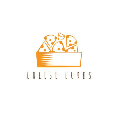 cheese curds in bowl vector design template Banco de Imagens - 71506737