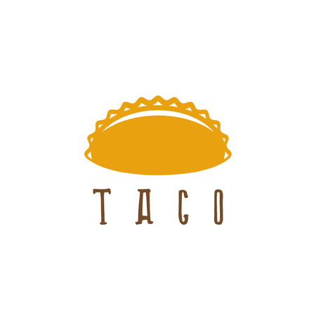 cartoon tomato: vector design template of taco mexican food Illustration