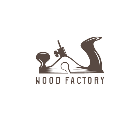 jointer simple vector design template of wood factory