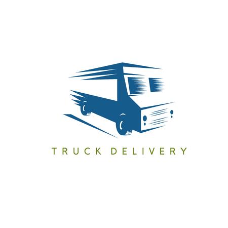 food: Simple urban food truck vector design template