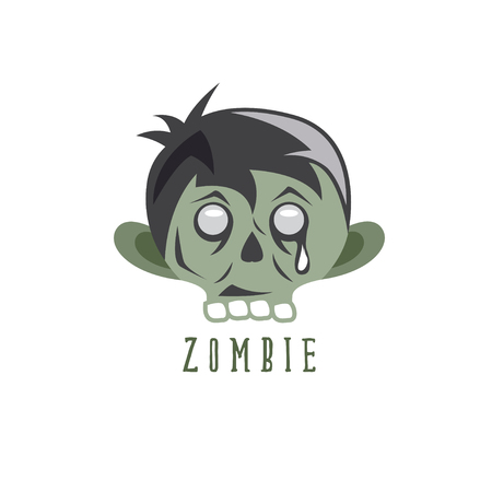 zombie cartoon face abstract vector design template Illustration