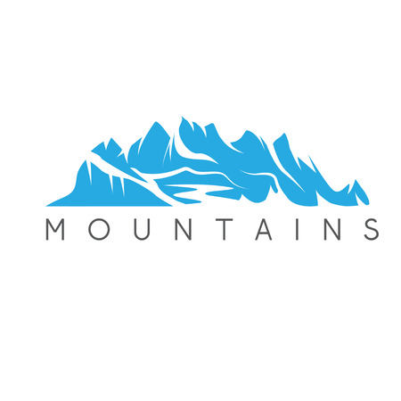 brook: simple vector illustration of the abstract mountains