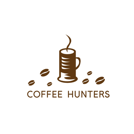 collet: Coffee cup in a form of collet vector design template