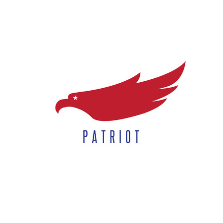 Design template of abstract patriotic eagle.