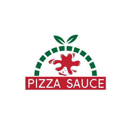 pizza sauce blot concept vector design template Stock Vector - 73754554