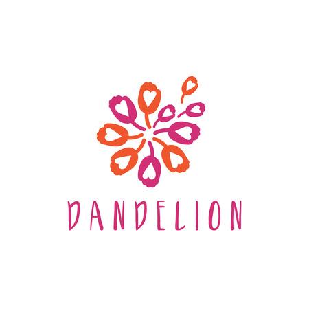 Illustration of concept logo of dandelion. Vector Illustration