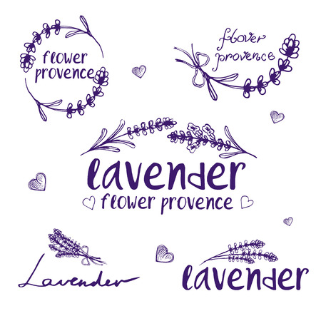 Set of template logo design of abstract icon lavender 向量圖像