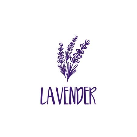 Modello di progettazione logo di astratto icona lavanda. Illustrazione vettoriale Logo
