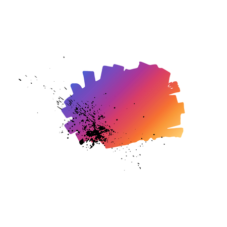 Abstract hand drawn painted gradient paint.Vector illustration