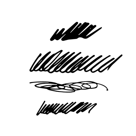 Set of abstract hand drawn  ink brush stroke,background texture. Grunge artistic design element.Vector illustration