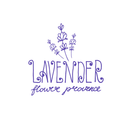 Template logo design of abstract icon lavender. Vector illustration Banque d'images - 111610501