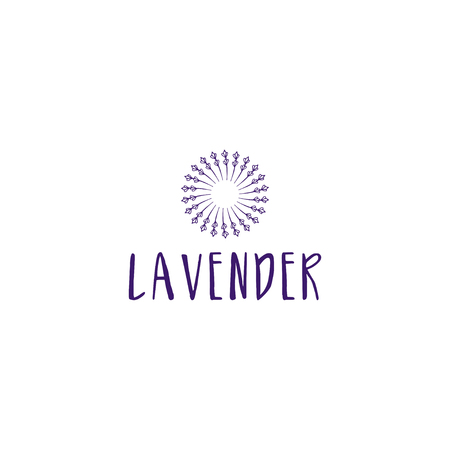 Template logo design of abstract icon lavender. Vector illustration Banque d'images - 111610504
