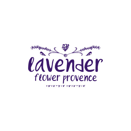 Template logo design of abstract icon lavender. Vector illustration Banque d'images - 111610505