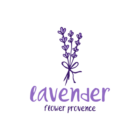 Template logo design of abstract icon lavender. Vector illustration Banque d'images - 111610506