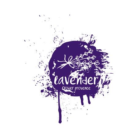 Abstract design lavender in splash color brush stroke. Vector illustration Banque d'images - 111610510